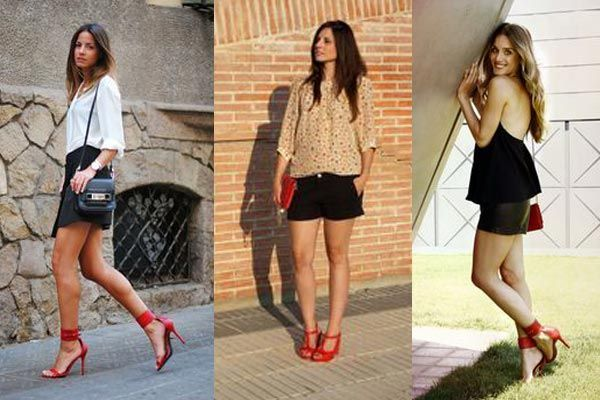 C�mo combinar sandalias rojas