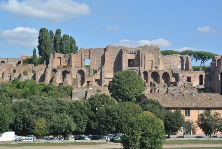 The Circus Maximus and Palatinr Hill in Rome, Italy