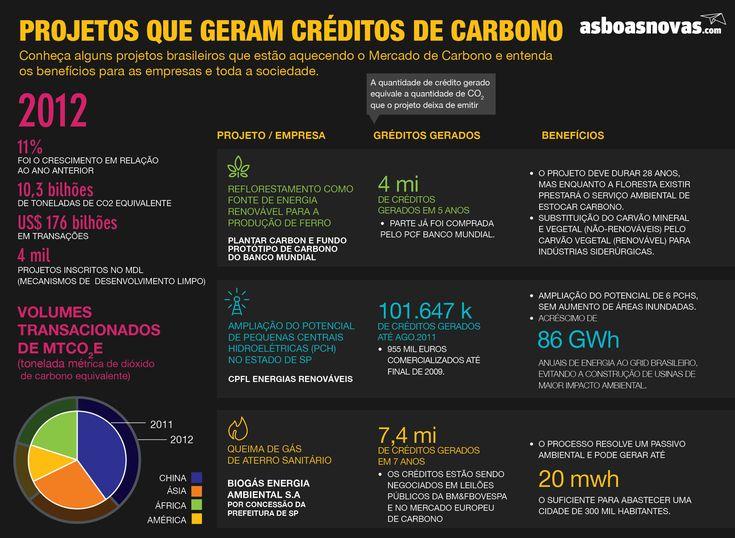 Projetos que geram créditos de carbono