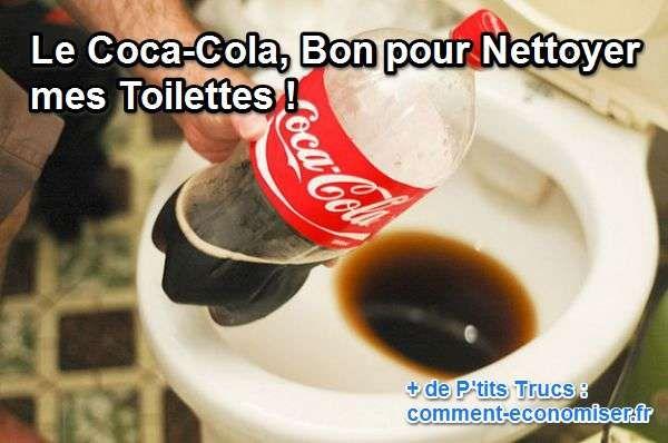 On sait maintenant que le Coca n'est pas bon pour la santé. Mais que faire de nos bouteilles et canettes qu'il nous reste ? Nous connaissons déjà plus ou moins les effets corrosifs du Coca. Et bien ici, on va pouvoir utiliser notre réserve de Coca pour nettoyer nos toilettes.  Découvrez l'astuce ici : http://www.comment-economiser.fr/nettoyer-toilettes.html?utm_content=bufferb45f9&utm_medium=social&utm_source=pinterest.com&utm_campaign=buffer