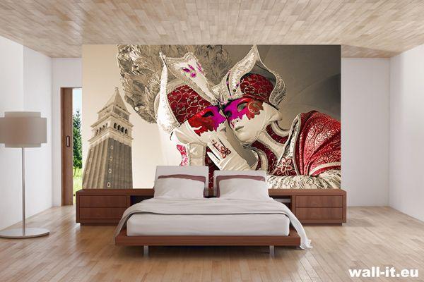 Romantyczna fototapeta do sypialni MASKI WENECKIE http://www.wall-it.eu/product/photowallpapers/1kolor/fototapeta%20do%20sypialni%20maski%20weneckie%20czarno%20bialy%20z%20czerwonym%20akcentem.jpg  #fototapeta #fototapety #mural #murals #bedroom #room #sypialnia #aranzacja #maski #mask #wenecja #venezia