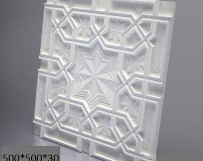 3d Wall Plastic Mold For 3d Decor Wall Panels For Gypsum Or Etsy Decorative Wall Panels Wall Paneling Diy 3d Panels