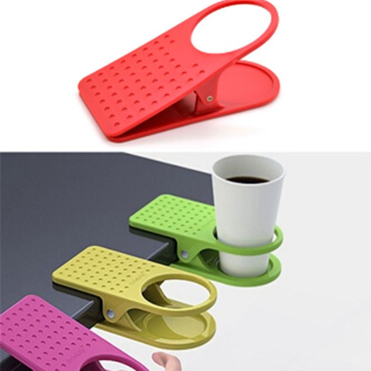 Use this clip right on your desk or table to keep your coffee right next to you! Great at keeping your desk clear and avoiding spills onto your computer. Comes in multiple colors. Follow #aloborashop