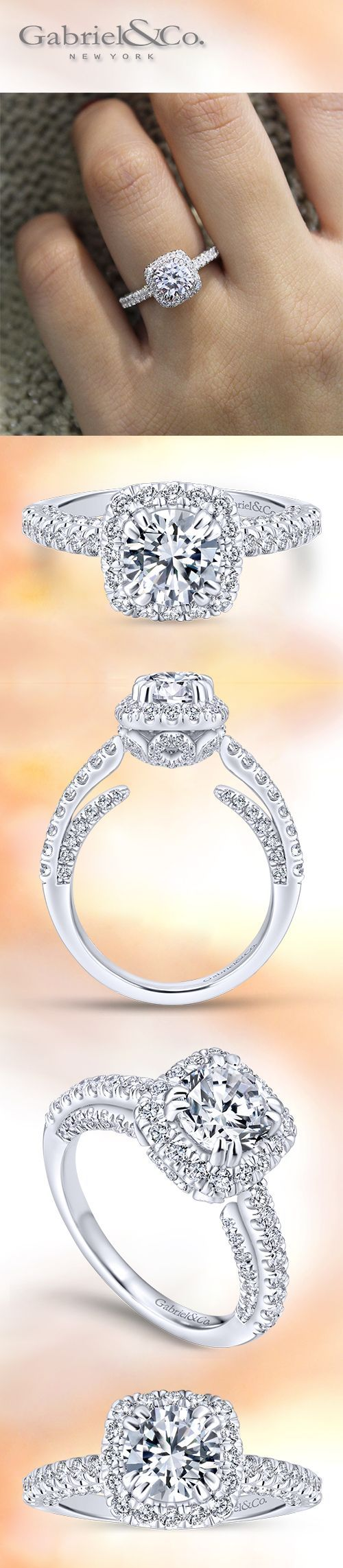 While the more unusual cuts of diamonds have been gathering momentum - Voted Most Preferred Bridal Brand With A Criss Cross Style Diamond Band And Diamond Halo This Engagement Ring Will Enhance Your Round Cut Center Stone
