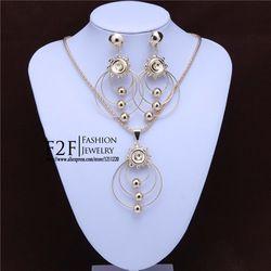 Online Shop Das mulheres novas 18 k tampa de garrafa de ouro beads colar brincos moda jóias africano define N159|Aliexpress Mobile