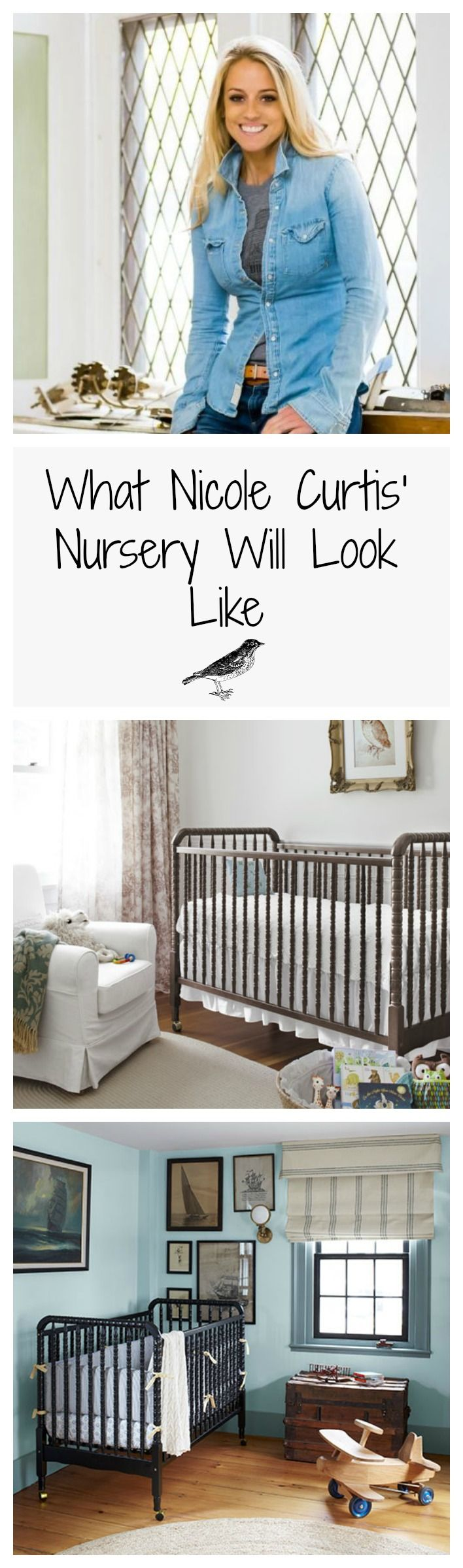 Let the nesting begin for HGTV star, Nicole Curtis! Repurposed and upcycled items will definitely come into play in this nursery.
