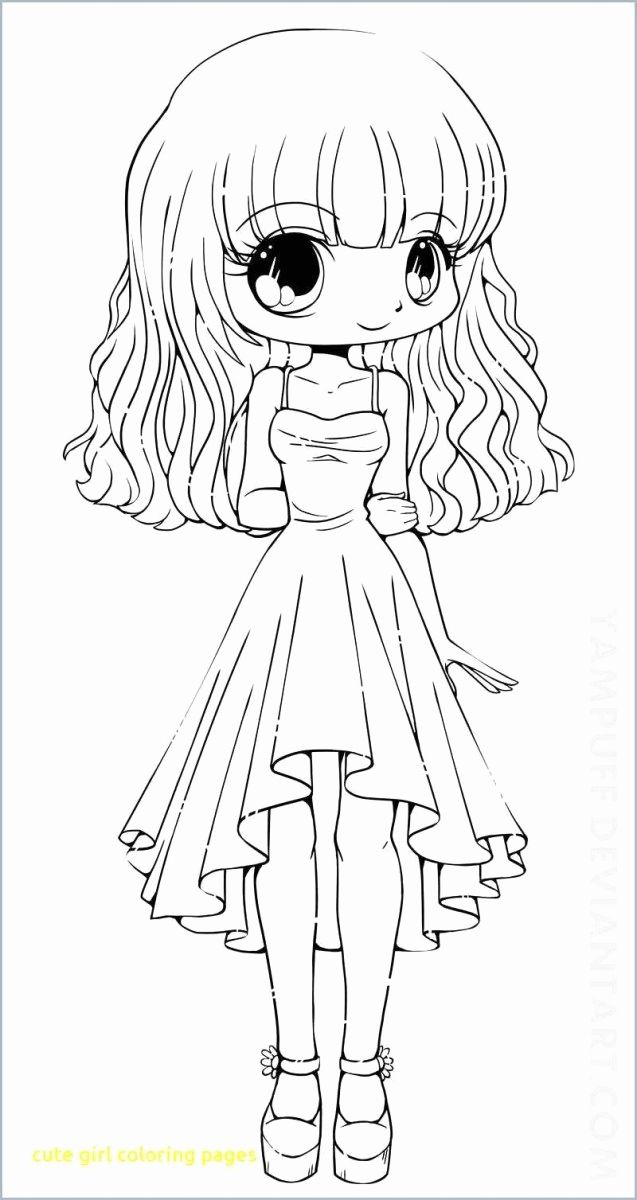 Easy Anime Coloring Pages New Cute Girl Coloring Pages Anime Coloring Pages Girl Best New In 2020 Chibi Coloring Pages People Coloring Pages Cute Coloring Pages