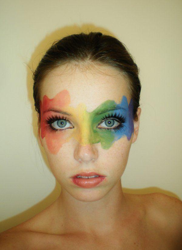 Rainbow Mask by starbuxx on DeviantArt Pride Makeup DeviantArt mask Rainbow star Pride Makeup Ideas DeviantArt Makeup Mask Pride Rainbow Star starbuxx Clown Makeup, Costume Makeup, Halloween Makeup, Rainbow Face Paint, Rainbow Painting, Makeup Inspo, Makeup Art, Makeup Ideas, Rave Makeup