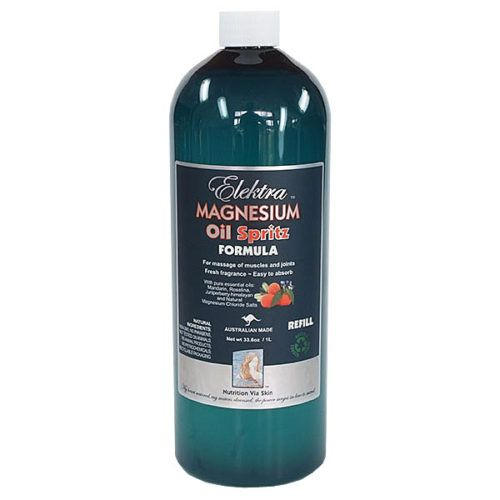 Elektra Magnesium Oil now comes in a 1ltr Refill Bottle shop online now @ http://www.magnesiumonline.com.au