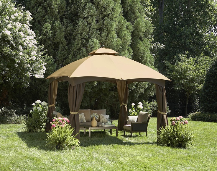 Shade from the sun or protection from the rain, this gazebo is water-repellent and has air vents.