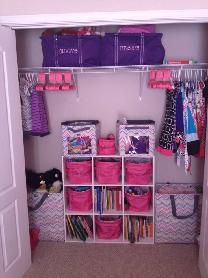 Spring cleaning can be fun with Thirty-One products!  Look at this beautifully cleaned out little girl's closet!  How fun is that for the little girl?!  :)
