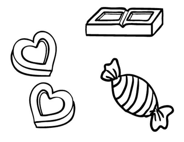 Coloring Pictures Chocolate Candy Coloring Pages