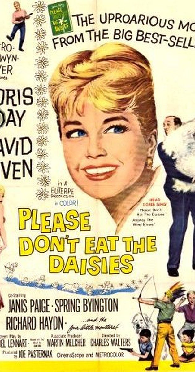Directed by Charles Walters.  With Doris Day, David Niven, Janis Paige, Spring Byington. A university professor leaves his job to become a theater critic, creating problems with his family and friends.