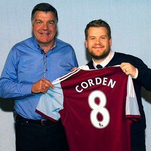 Big Sam welcomes the new West Ham signing