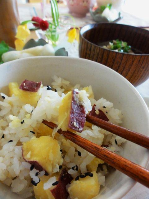 節電レシピ】お鍋で炊くサツマイモご飯。 | 美肌レシピ