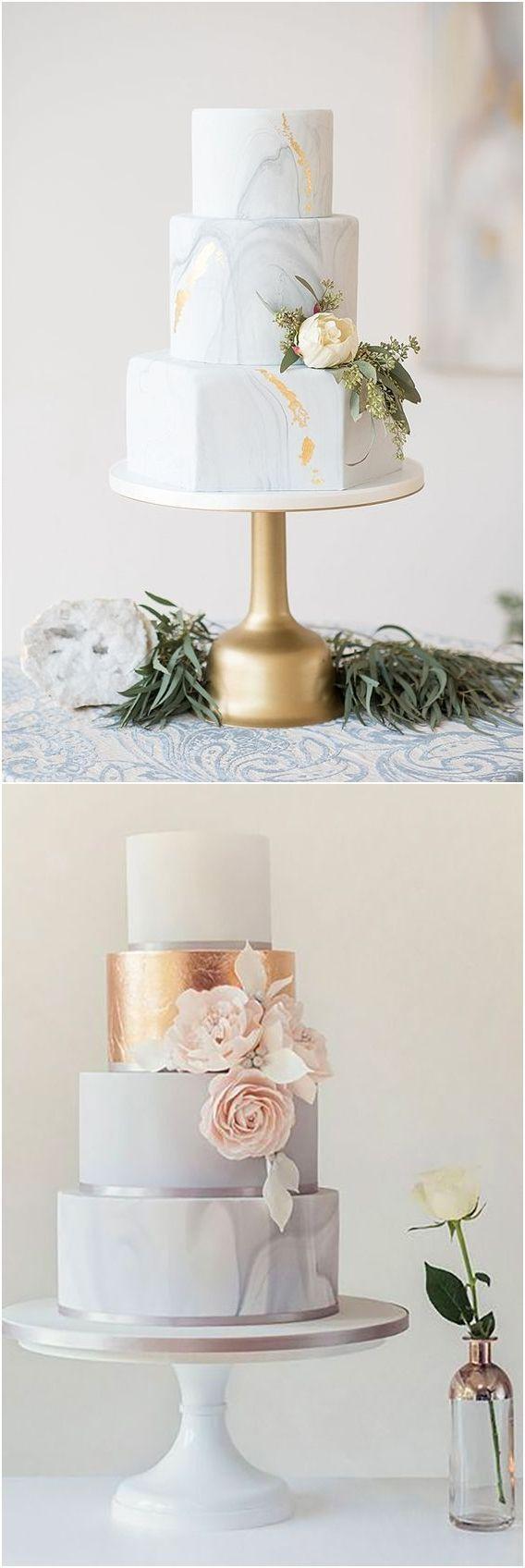 Marmor Hochzeitstorte Ideen #Hochzeiten #Hochzeitstorten #Kuchen ❤️ www.deerpearlflo …   – Cakes