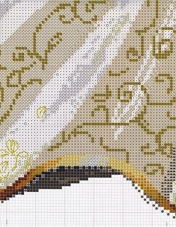 Hobby lavori femminili - ricamo - uncinetto - maglia: Schema punto croce Reggina delle Fate