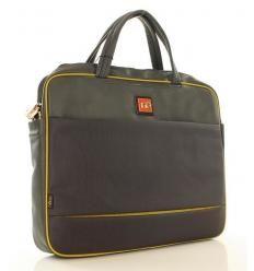 NOBO Funkcjonalna torba na laptopa szary z żółtym
