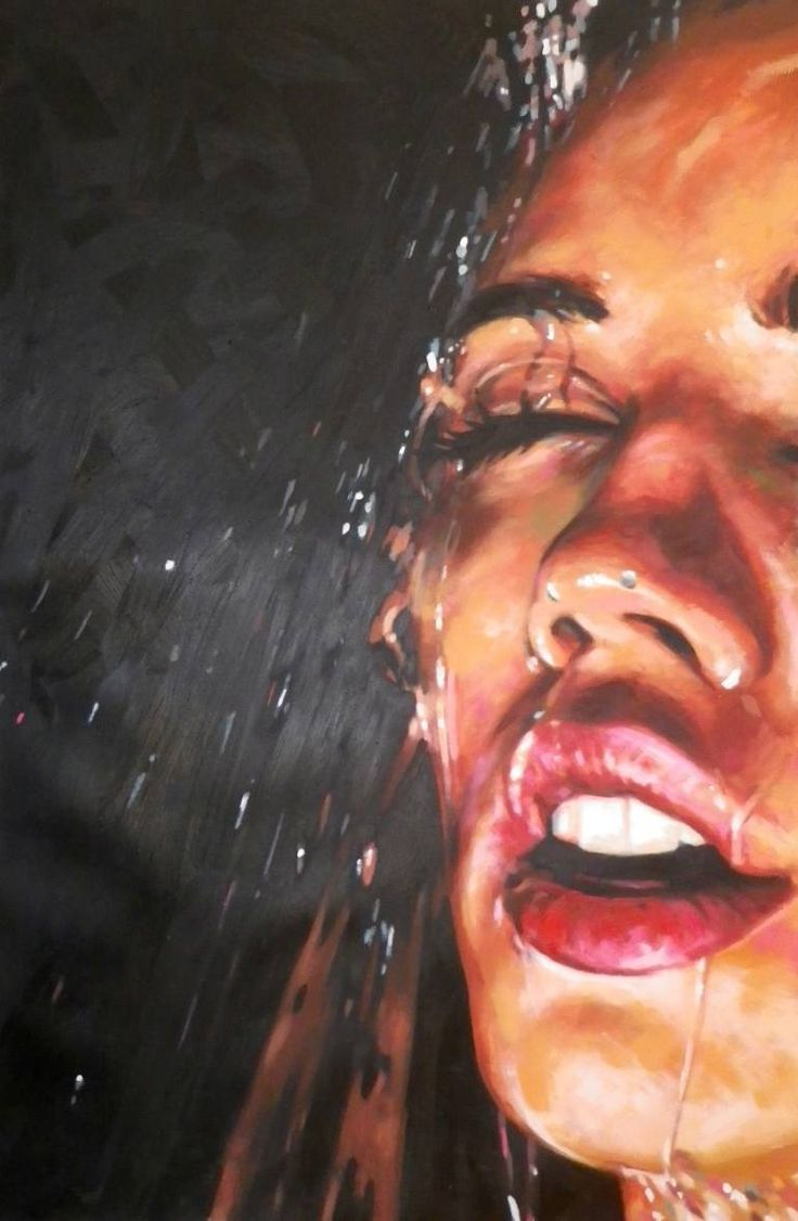 "Saatchi Art Artist Thomas Saliot; Painting, ""night shower"" #art"