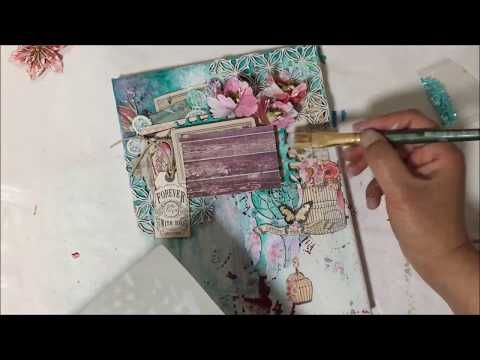 the Colour Press: ( VIDEO Tutorial) : Scrapbooking on Canvas using 2craftychipboard & Prima Marketing