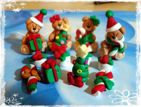 Christmas Bear Polymer Clay.  I'll be honest I can't stop pinning these polymer Clay things. They are just so darn cute. I'm trying to pin only specific ones that match my boards but you've just GOT to check out all of them!