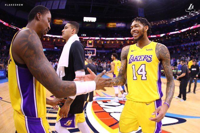 Kcp Kyle Kuzma And Brandon Ingram Brandon Ingram La Lakers Kyle Kuzma