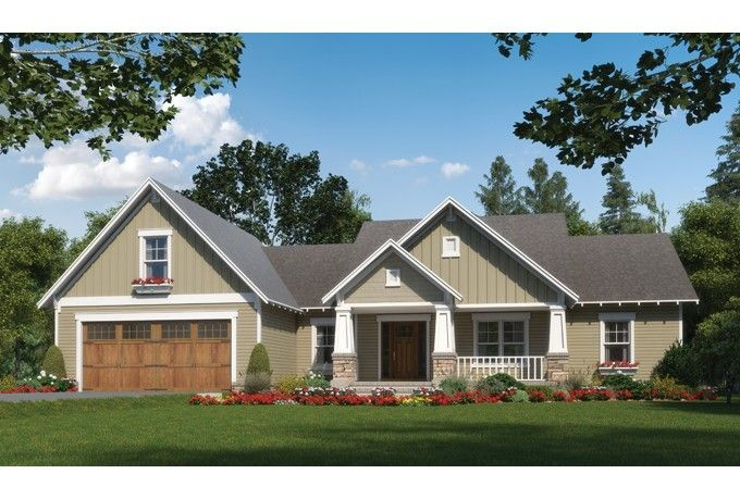 Here's a beautiful new Craftsman design, plan HWEPL76714