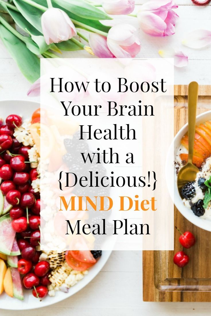 The MIND Diet has been shown to boost brain health, & reduce the risk of Alzheimer's by up to 53%! Learn which foods to eat & get a free healthy, gluten free, 3 Day MIND Diet Meal Plan | EA Stewart, The Spicy RD