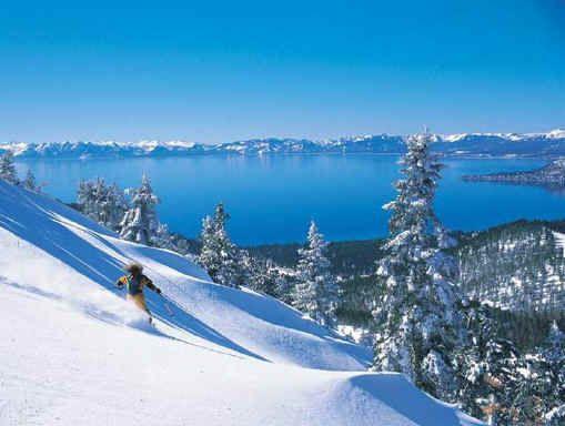 Skiing Lake Tahoe - Bliss