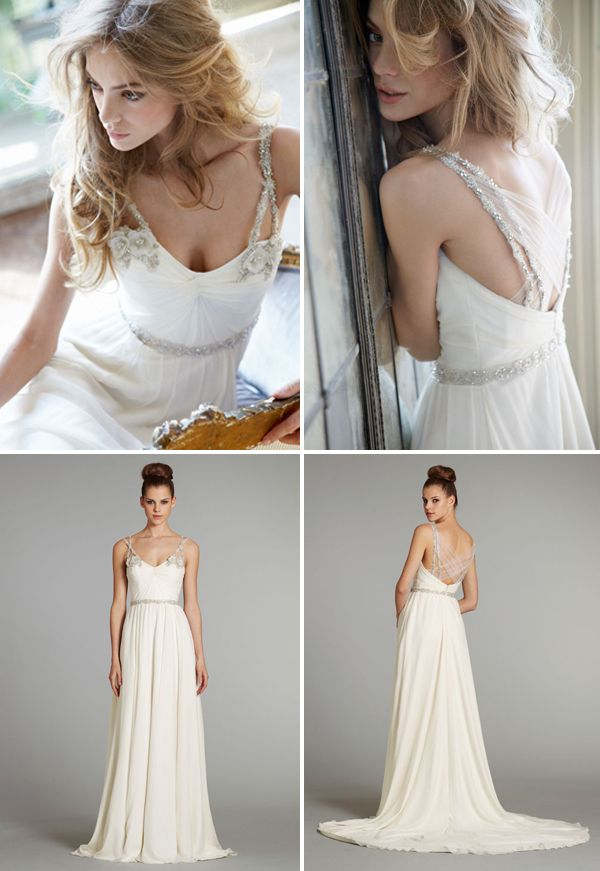 Hayley Paige wedding gown the Nina from her Fall 2012 Collection. Gorgeous.