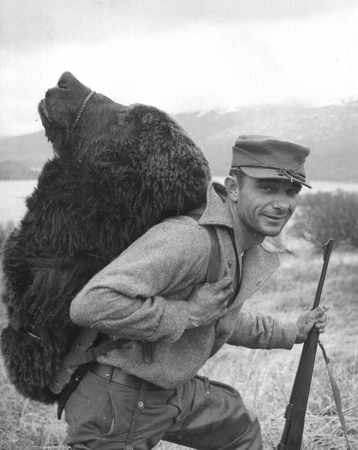 William A. Troyer, A happy hunter. Bear hunting is an important recreational sport on the refuge, Kodiak National Wildlife Refuge, Alaska, 11 May 1957. Source: US Fish and Wildlife Service, National Digital Library