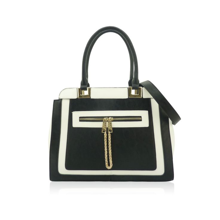 The Bradshaw B Bag by LYDC in Black and White
