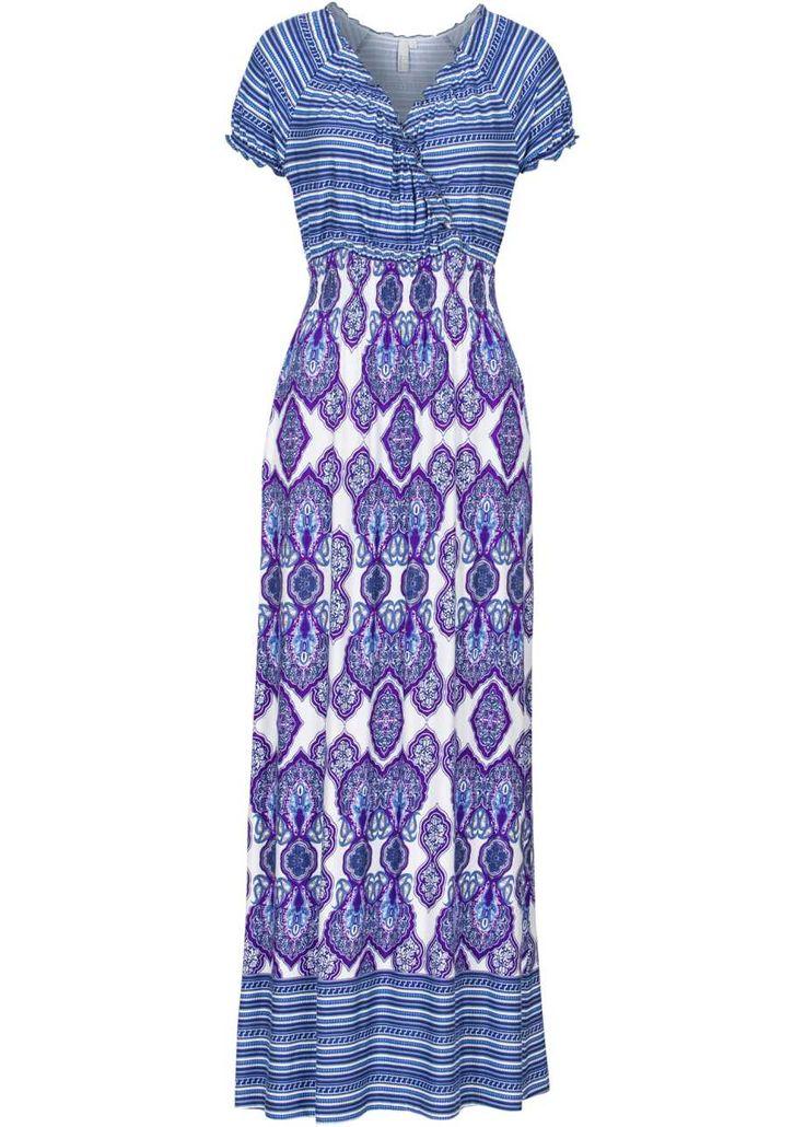 Maxiklänning, BODYFLIRT boutique, blå, färgmix
