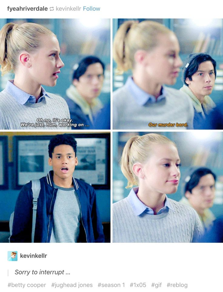 Betty Cooper and a low-key jealous Jughead Jones— Riverdale