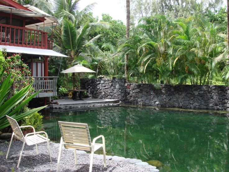 The guest house is located in a small, seaside community not far from the Cape Kumakahi lighthouse, at the easternmost point of the Big Island. This is a rural area with beautiful flora . The house is a very comfortable, ...