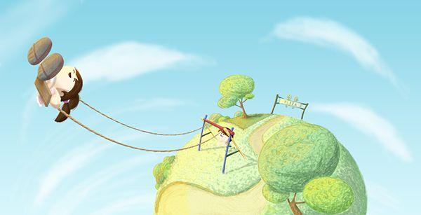 Ilustración que hice como ejercicio con la wacom.