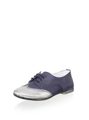 69% OFF Hoo Kid's Cheila's Oxford Boat Shoe (Navy/Silver)