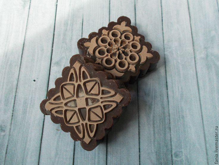Купить шоколадка,глицериновое мыло - коричневый, шоколадное мыло, глицериновое мыло, мыло с нуля