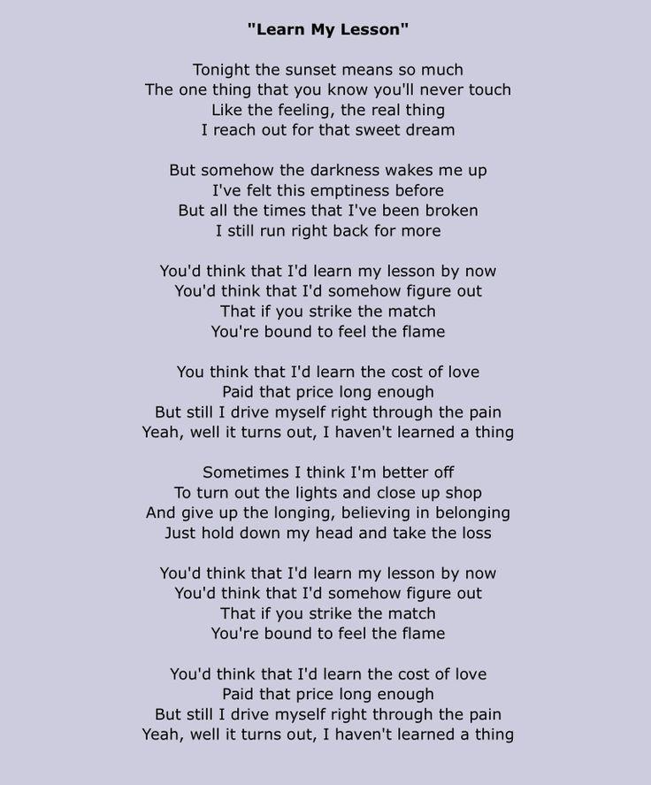 Daughtry – Learn My Lesson Lyrics | Genius Lyrics