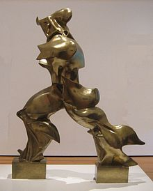 Umberto Boccioni, Unique Forms of Continuity in Space (1913) - the fluidity of the shape of this sculpture creates a sense of movement.