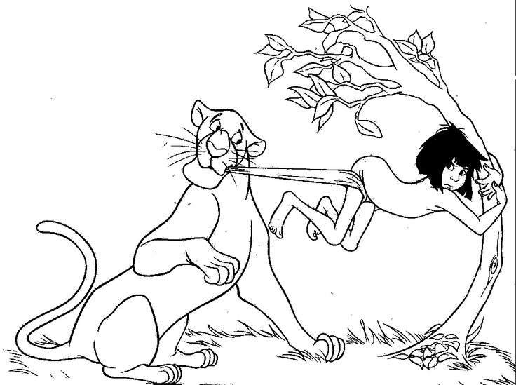 107 best coloring book: disney images on pinterest | draw ... - Disney Jungle Book Coloring Pages