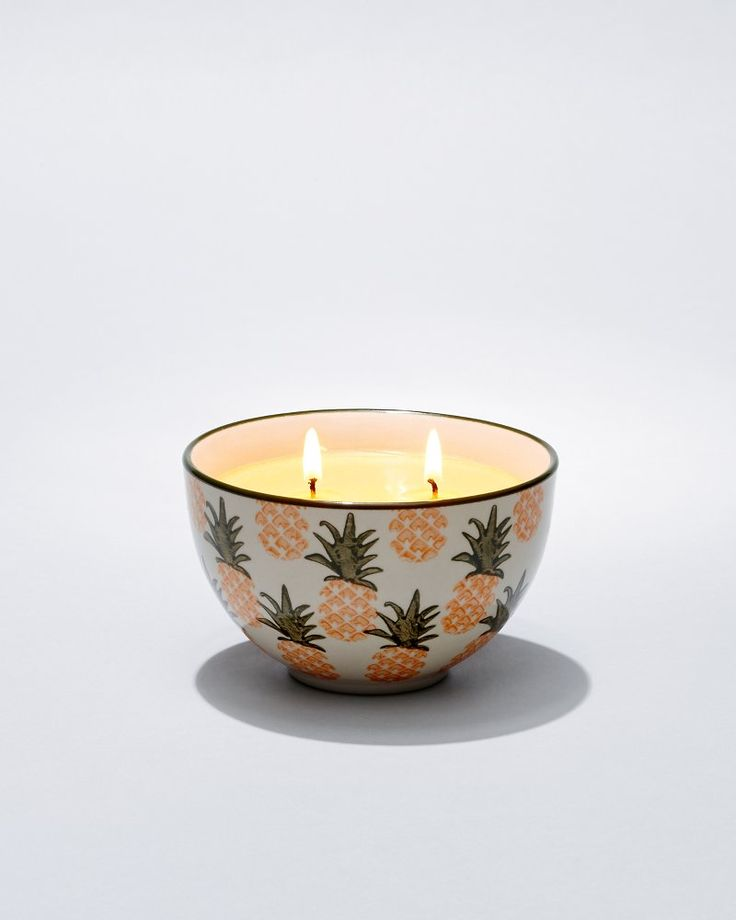 Pineapple Paradise Ceramic-Bowl Poured Three-Wick Candle