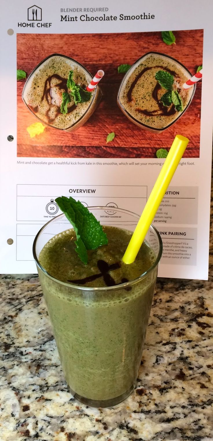 31st Home Chef Review - $30 Discount, Mint Chocolate Smoothie