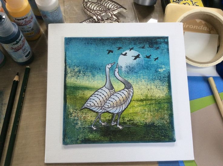 Barbara Gray's Blog. One Day at a Time.: A Goosey Canvas and a Super Sale
