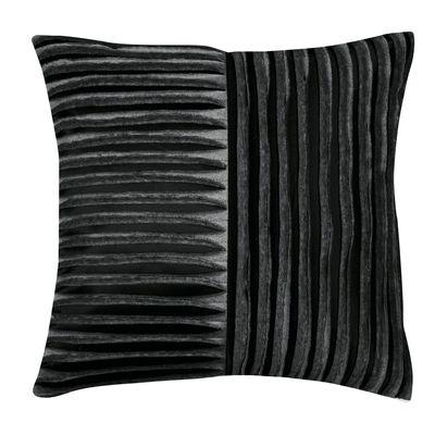 dwell - Ridges satin cushion black - £39