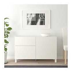 56b44021fd90 BESTÅ Storage combination w doors/drawers, white, Vassviken/Stubbarp white  - 47 1/4x15 3/4x29 1/8