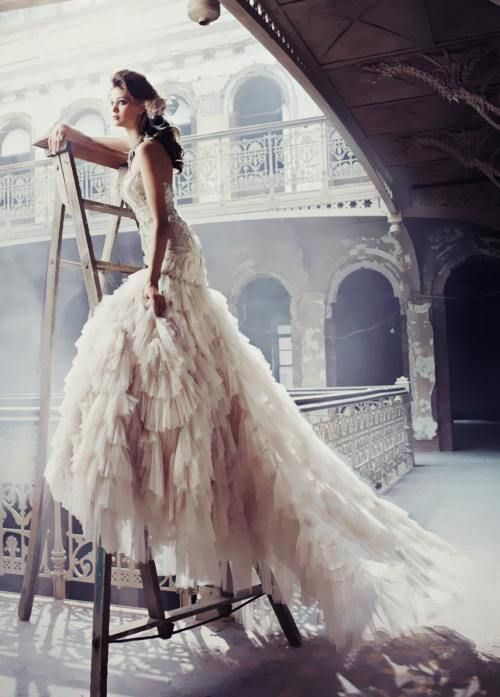 Gorgeous bride!  Love this photo!