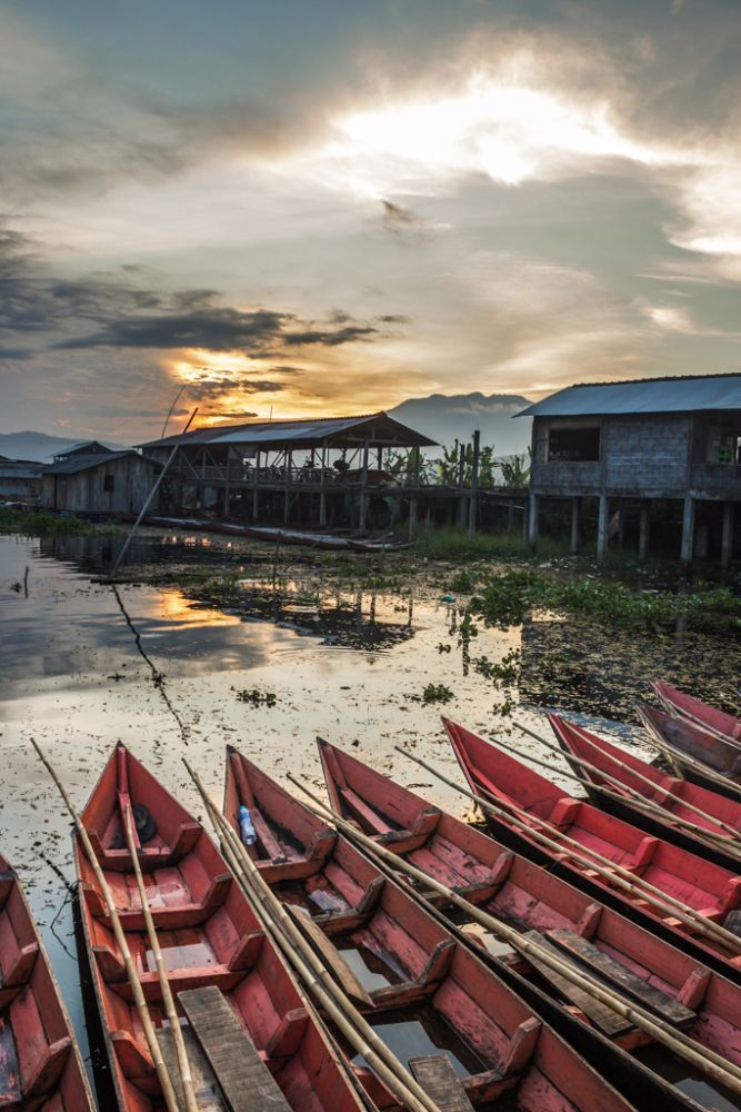 Rows of the Red and the Brilliance of Sunset by Franciscus Satriya Wicaksana