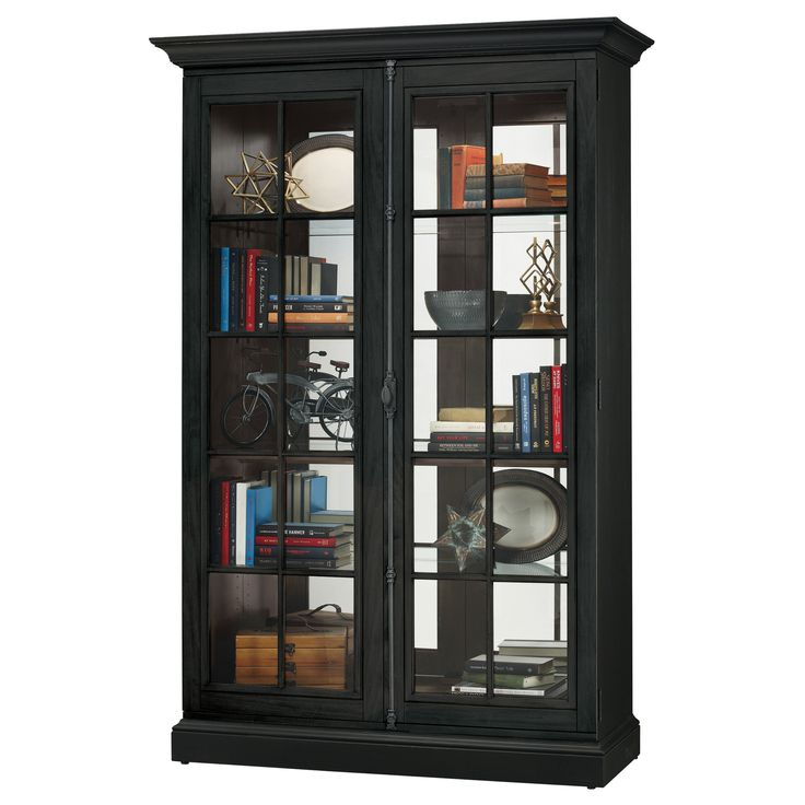 Luxury solid Wood Curio Cabinet