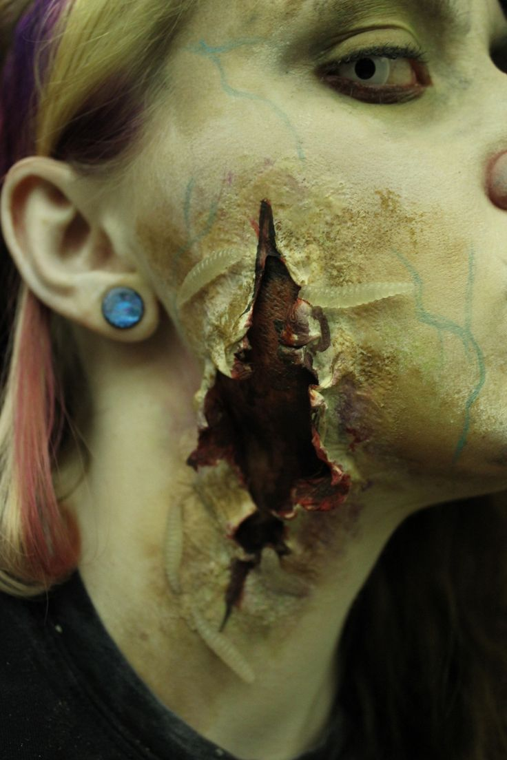 We all go a little mad sometimes..., zombie makeup ~ By Kimberly Sorensen